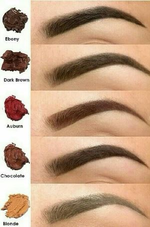 Как правильно подобрать цвет бровей